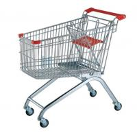 Quality European Trolley 60L - 240L Rolling Supermaket Shopping Carts for Supermarket for sale