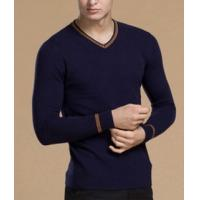China Men's Long Sleeve v-neck Wool Sweater on sale