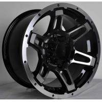 Wholesale ISO/TS Standard Black Alloy Wheels Truck Wheels 4x4 With 5/6 Hole , Energy Saving from china suppliers