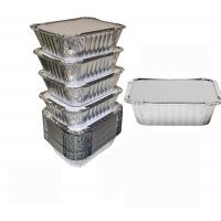 Wholesale 8011 Disposable Aluminium Foil Trays , Disposable Microwavable Foil Containers from china suppliers