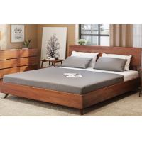 Natural Steady Queen Size Solid Wood Frame Bed With Backrest Stylish Bedroom Furniture Sets