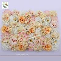 Quality UVG romantic rose artificial floral wall for photography backdrop art studio backgroudn decoration CHR1137 for sale
