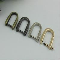 Wholesale Simple design various colors removeble zinc alloy 15mm D ring strap metal buckles for handbag from china suppliers