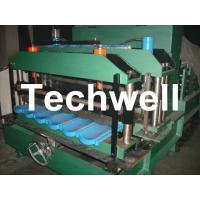 Wholesale Custom 0.3-0.7mm Glazed Tile Roll Forming Machine With Double Pressing Mould  from china suppliers