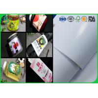 Buy cheap 914mm Coated C1S Art Paper 80gsm 90gsm Size Custom Adhesive Label For Stickers from wholesalers