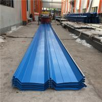 Buy cheap 760mm prepainted hot-dip zinc blue corrugated steel roof sheet for warehouse from wholesalers