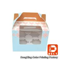 Wholesale 250 Grams Ivory Board Paper Food Boxes Single Cupcake Boxes With Window from china suppliers