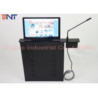 Wholesale Conference Room Meeting Microphone Slim LCD Monitor Screen Motorized Lift 17.3 Inch 1080P Screen from china suppliers