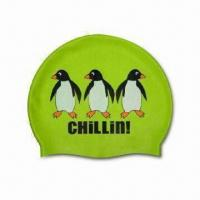 Buy cheap Silicone Swimming Cap for Swimming School and Team, Customized Designs are Accepted from wholesalers