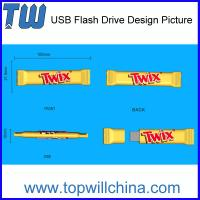 Wholesale Promotional Custom PVC Thumb Drive Duplicate Company Real Product from china suppliers