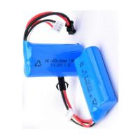 Wholesale 14500 Rechargeable Battery Pack 7.4V 650mah For LED Torch / Mini Speaker , Blue Color Wrap from china suppliers