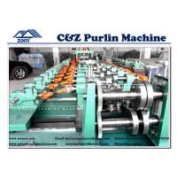 Wholesale High Speed Cee and Zee Purlin Cold Rollformer Machine For 1.2mm-6.0mm Thickness from china suppliers