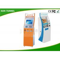 Wholesale 17 Inch All In One Card Dispenser Kiosk Self Payment With Cash Acceptor / Card Reader from china suppliers