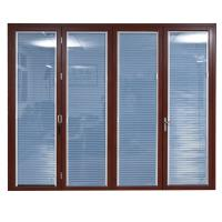 Wholesale Wooden color aluminum patio doors from china suppliers