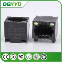 Wholesale Unshielded Ethernet Connector Rj45 Single Port With Led , DGKYD-56YGZNL from china suppliers