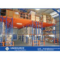 Wholesale Blue Rack Supported Mezzanine 1000 Kg Per Square Meter With Solid Steel Grating Deck from china suppliers