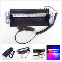 Wholesale Red & Blue color Car Police Strobe Flash Light 8 LED 8W Emergency Warning Light 12V Universal from china suppliers