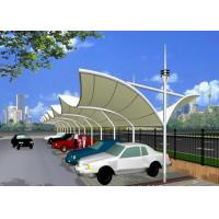 Wholesale Outdoor Safety  Fabric Structures Double Side Steel Carports For Commercial Shopping Mall Guaranteee 10 Years from china suppliers