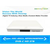 Wholesale HSC-6021L DVB C HD H.264 / MPEG-4 / MPEG-2 Set Top Box USB 2.0 PVR Cardless CAS from china suppliers