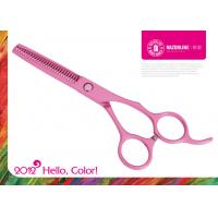 Wholesale Pink Teflon Coating Convex-edge 56-57HRC Stainless Steel Hair Thinning Scissors from china suppliers