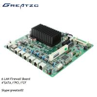 Wholesale Atom 6 LAN Firewall Motherboard D2550 ATOM , Fanless Firewall Board 6 Ethernets from china suppliers
