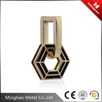 Wholesale 33.42*52.54mm Light gold metal buckle for handbag,customized bag buckle from china suppliers
