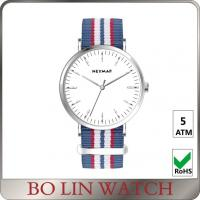 Wholesale Big Face Mineral Glass Minimalist Automatic Watch With Nylon Band from china suppliers