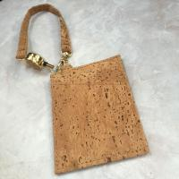 Wholesale Popular Natural Cork Money Clip Credit Card Holder with Handle from china suppliers
