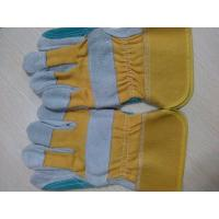 """Quality 10.5"""" Reinforced Double Palm cow Leather Safety protective Gloves for sale"""