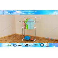Wholesale Foldable Indoor Outdoor Clothes Drying Rack , Commercial Clothes Display Racks from china suppliers