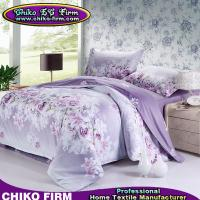 Wholesale Wholesale Pure Cotton Purple Flower Queen King Size Bedding Sets from china suppliers