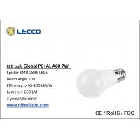Wholesale 6000k LED Globe Light Bulb E27 7W , SMD Low Wattage Led Bulbs Light 100 LM / W from china suppliers