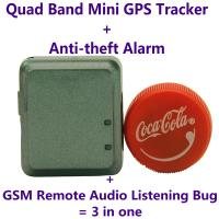 Wholesale Mini GPS Tracker+Anti-theft Alarm+Spy GSM Remote Audio Bug W/ Website/APP/SMS Tracking from china suppliers