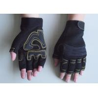 Wholesale Neoprene Cuff Stretch fabric back mens or ladies Fingerless Mechanic Work Gloves from china suppliers
