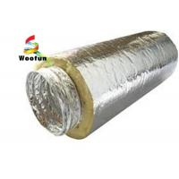 Quality Insulated 10 HVAC Duct Insulation Wrap , Aluminum Foil Flexible Ventilation Ducting for sale