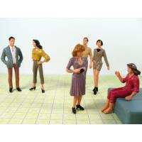 Wholesale P25-6 outdoor 1:25 Architectural Scale Model People Painted Figures 7cm from china suppliers