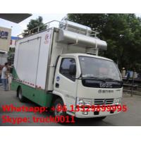 Wholesale 4x2 diesel 120hp mobile chinese food truck, dongfeng 4*2 LHD mobile kitchen vehicle, hot sale fast food truck for sale from china suppliers