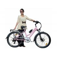 Wholesale Girls Pink Green City E Bike / Bicycle with PAS , 250W brushless hub motor from china suppliers