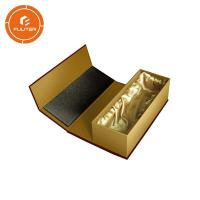 Wholesale Gold standard premium luxury magnetic wine gift box / portable champagne bottle box from china suppliers