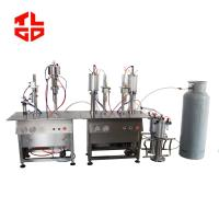 Wholesale Stainless Steel LPG Gas Filling Machine For Cassette Can / Refrigerant Can / Altitude Gas Can from china suppliers
