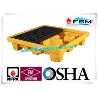 Wholesale Poly Oil Drum Containment Pallet Spill Platform For 4 Drum Chemical Fuel from china suppliers