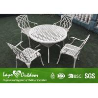 Wholesale With 20 Years Experience Factory Modern Design Patio Outdoor Furniture Casting Table And Chairs 5pcs Per Set from china suppliers