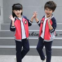 Kids Kindergarten Primary School Uniforms Long Sleeve Stand Collar Sportswear for sale