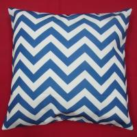 """Wholesale blue home chevron cotton plaid throw pillows For couch , 18"""" throw pillows from china suppliers"""