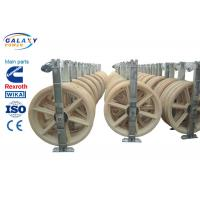 Wholesale Nylon Wheel Wire Pulling Blocks , 3 Sheave Galvanized Steel Wire Pulling Pulley from china suppliers