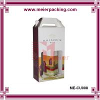Wholesale corrugated cardboard wine box/Beautiful Design cardboard paper wine carrier box ME-CUR008 from china suppliers