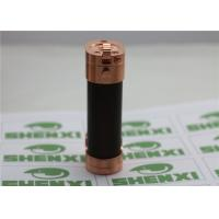 Quality Slug Style 18650 Mechanical Box Mod E Cig Copper Battery Tube With Wood Sleeve for sale