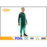Wholesale Breathable Disposable Plastic Aprons PE Smock / Overall Full Body Protection from china suppliers