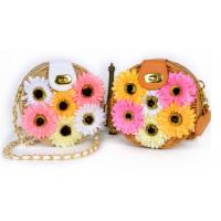 Wholesale Small flower straw cross-body beach bag from china suppliers