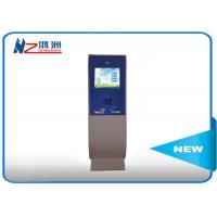Wholesale Touch screen lobby dual screen free standing kiosk with A4 Printer from china suppliers